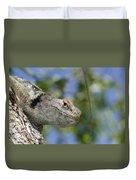 Peek-a-boo Lizard Duvet Cover
