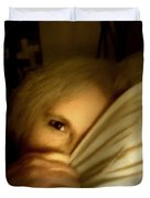 Peekaboo By Candlelight Duvet Cover