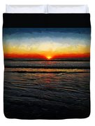 Peeking Over The Horizon Duvet Cover