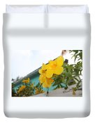 Peeping Over The Fence Duvet Cover