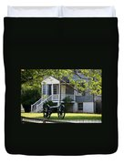 Peers House And Cannon Appomattox Court House Virginia Duvet Cover