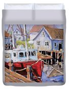Peggy S Cove 02 By Prankearts Duvet Cover