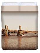 Pelham Bridge In Sepia Duvet Cover