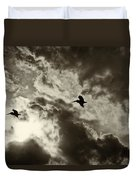 Pelican Fly By Duvet Cover