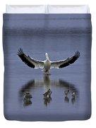 Pelican Protector - Florida Wildlife Scene Duvet Cover