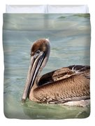 Pelican Waiting For A Catch Duvet Cover
