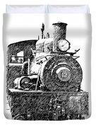 Pencil Sketch Locomotive Duvet Cover