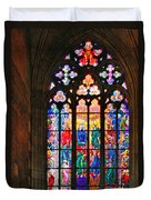 Pentecost Window - St. Vitus Cathedral Prague Duvet Cover by Christine Till