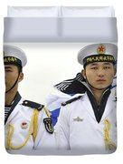 Peoples Liberation Army Navy Sailors Duvet Cover by Stocktrek Images