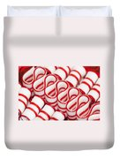 Peppermint Ribbon Candy Duvet Cover