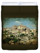 Perched Village Of Gordes Duvet Cover