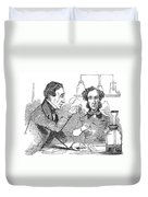 Performing The Marsh Test, 1856 Duvet Cover by Science Source
