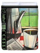 Perk Coffee Languages Poster Duvet Cover
