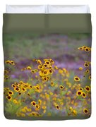 Perky Golden Coreopsis Wildflowers Duvet Cover