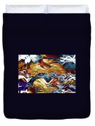 Permanent Waves Duvet Cover by Linda Sannuti