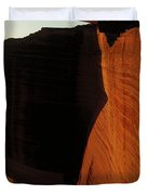 Person Standing Atop The Kings Canyon Duvet Cover