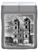 Peru: Jesuit Church, 1869 Duvet Cover