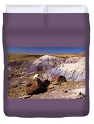 Petrified Logs In The Badlands Duvet Cover