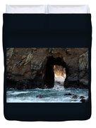 Pfeiffer Rock Big Sur Duvet Cover by Bob Christopher