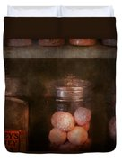 Pharmacy - Kidney Pills And Suppositories Duvet Cover by Mike Savad