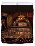 Pharmacy - The Rheumatic Cure Wagon  Duvet Cover
