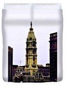 Philadelphia City Hall Tower Duvet Cover