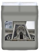 Philadelphia City Hall Window Duvet Cover