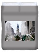 Philadelphia Fountain Duvet Cover