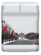 Philadelphia Parkway In The Snow Duvet Cover