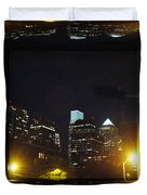 Philadelphia Skyline At Night - Mirror Box Duvet Cover