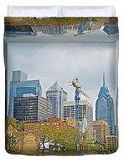 Philadelphia Skyline - Mirror Box Duvet Cover