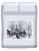 Philadelphia: Winter, 1873 Duvet Cover