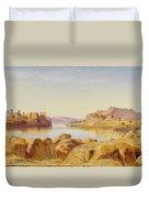 Philae - Egypt Duvet Cover by Edward Lear