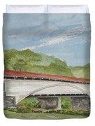 Philippi Covered Bridge  Duvet Cover