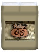 Phillips 66 Vintage Sign Duvet Cover