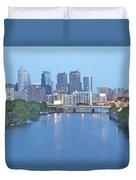 Philly In Blue Duvet Cover