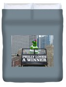 Philly Loves A Winner Duvet Cover by Alice Gipson