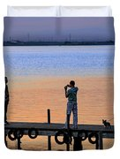 Photographing The Sunset Duvet Cover