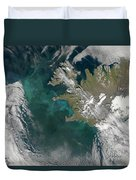 Phytoplankton Bloom In The North Duvet Cover by Stocktrek Images