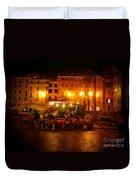 Piazza Flower Vendor Duvet Cover