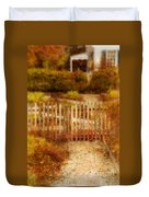 Picket Fence And Cottage Duvet Cover