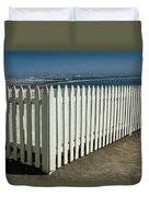 Picket Fence By The Cabrillo National Monument Lighthouse In San Diego Duvet Cover