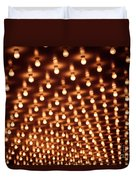 Picture Of Theater Marquee Lights Duvet Cover by Paul Velgos