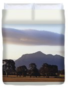 Picturesque Mountain Ranges Loom Duvet Cover