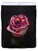 Picturesque Satin Rose Duvet Cover
