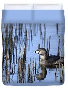 Pied-billed Grebe, Montreal Botanical Duvet Cover