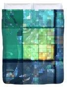 Piercing Geo Green Duvet Cover