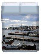 Piers Of Oslo Harbor Duvet Cover