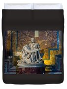 Pieta By Michelangelo Circa 1499 Ad Duvet Cover