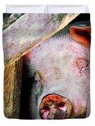 Pig Sleeping Duvet Cover